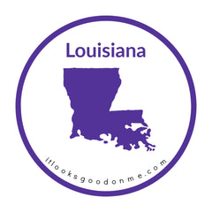Louisiana state outline printable iron on patch it looks good on me