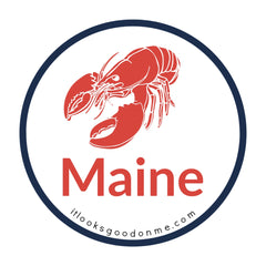 Maine lobster picture iron on patch it looks good on me