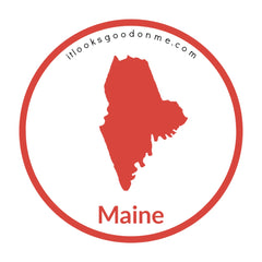 Maine state outline printable iron on patch it looks good on me