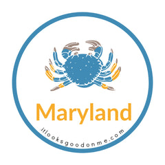 Maryland blue crab picture iron on patch it looks good on me