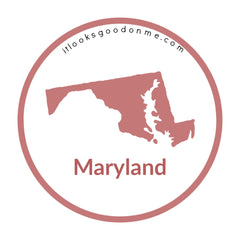 Maryland state outline printable iron on patch it looks good on me