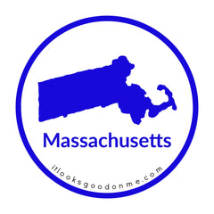 Massachusetts state outline printable iron on patch it looks good on me