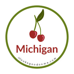 Michigan cherries cherry picture iron on patch it looks good on me