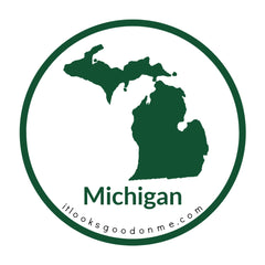 Michigan state outline printable iron on patch it looks good on me
