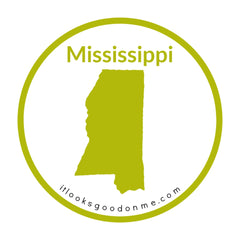 Mississippi state outline printable iron on patch it looks good on me