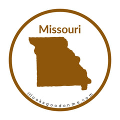 Missouri state outline printable iron on patch it looks good on me
