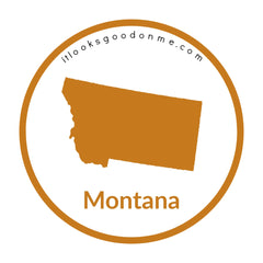 Montana state outline printable iron on patch it looks good on me