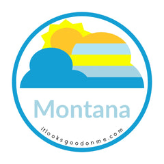 Montana big sky picture iron on patch it looks good on me