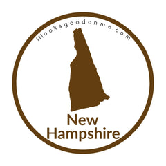New Hampshire state outline printable iron on patch it looks good on me