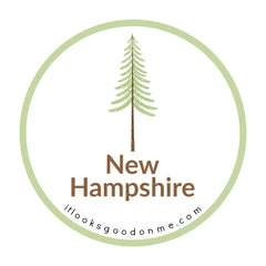 New Hampshire tree picture iron on patch it looks good on me