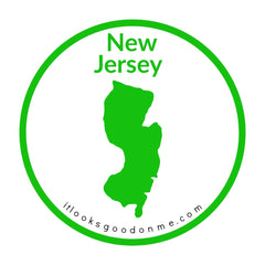 New Jersey state outline printable iron on patch it looks good on me