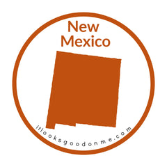 New Mexico state outline printable iron on patch it looks good on me