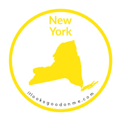 New York state outline printable iron on patch it looks good on me