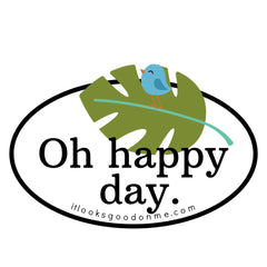 oh happy day iron on printable patch