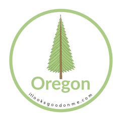 Oregon tree picture iron on patch it looks good on me