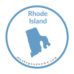 Rhode Island state outline printable iron on patch it looks good on me