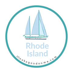 Rhode Island sailboat picture iron on patch it looks good on me