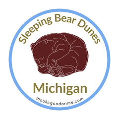 Sleeping Bear Dunes Michigan national seashore patch from it looks good on me
