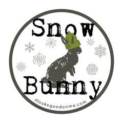 snow bunny printable iron on patch from it looks good on me