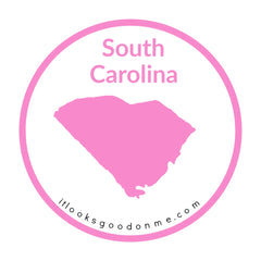 South Carolina state outline printable iron on patch it looks good on me