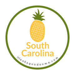South Carolina pineapple picture iron on patch it looks good on me