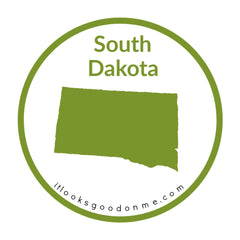 South Dakota state outline printable iron on patch it looks good on me