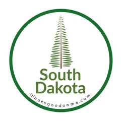 South Dakota tree picture iron on patch it looks good on me