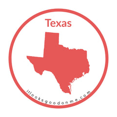 Texas state outline printable iron on patch it looks good on me