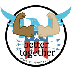 USA better together printable iron on patch it looks good on me
