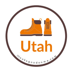 Utah hiking boots picture iron on patch it looks good on me