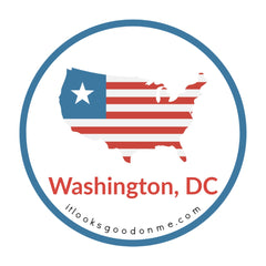 Washington DC District of Columbia flag picture iron on patch it looks good on me