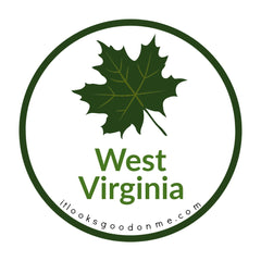 West Virginia sugar maple leaf picture iron on patch it looks good on me