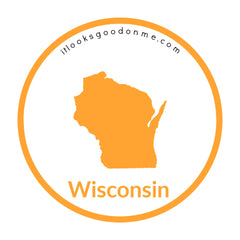 Wisconsin state outline printable iron on patch it looks good on me
