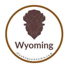 Wyoming bison picture iron on patch it looks good on me