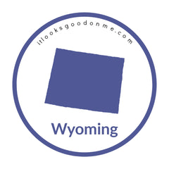 Wyoming state outline printable iron on patch it looks good on me