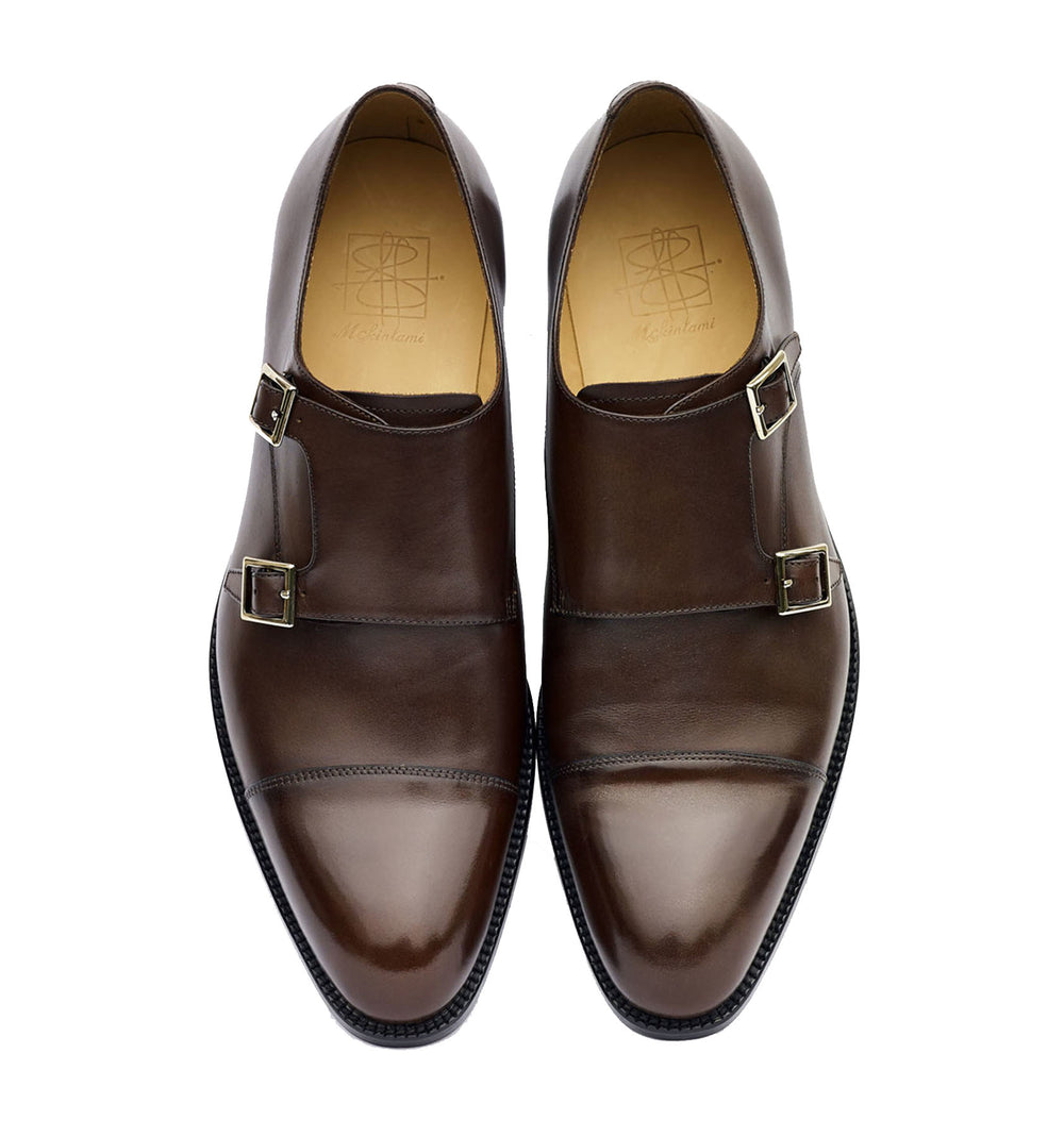BUJI Monk dark brown shoe