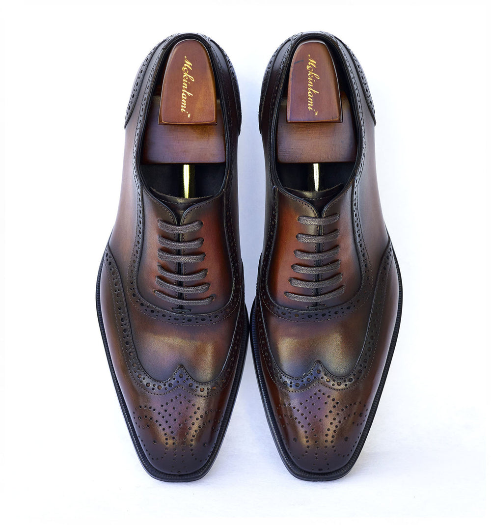 detailed lamido brogues brown color