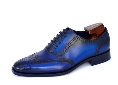 royal blue oxford lamido brogues