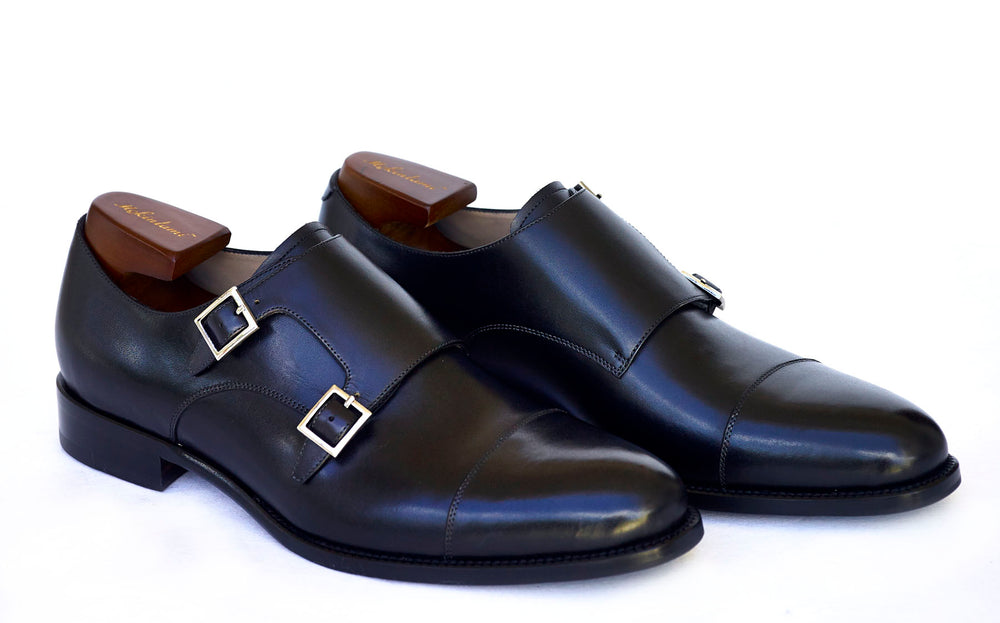 Monk Straps Black Hand made