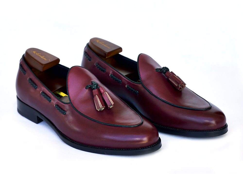 burgundy wangara loafer mckintami
