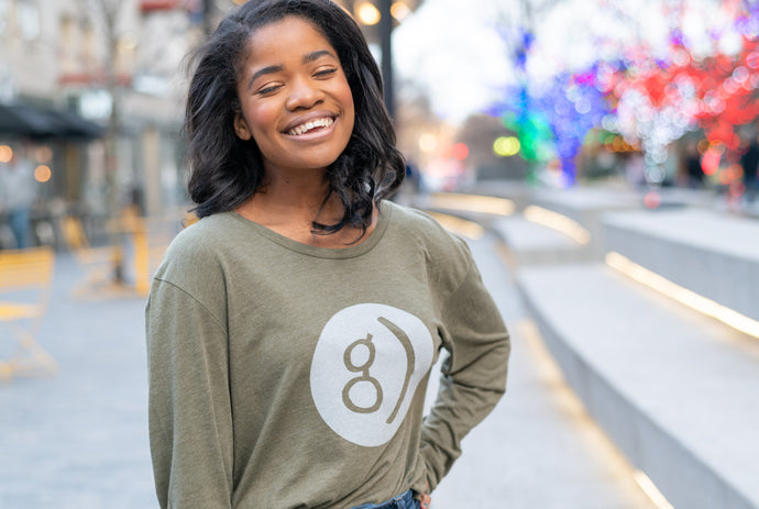 Happy G Long Sleeve Shirt (Olive Green)
