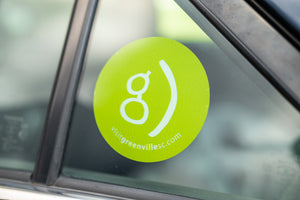 Happy G Static Cling Window Decal