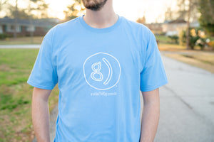Happy G Outline T-Shirt (Light Blue)