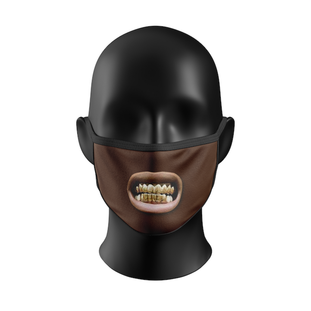 GOLD GRILLZ MASK