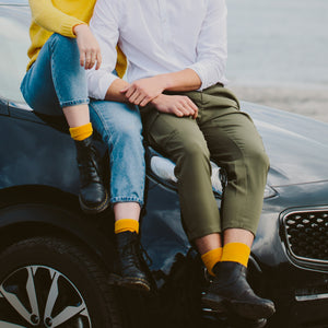 yellow merino wool possum socks new zealand men women