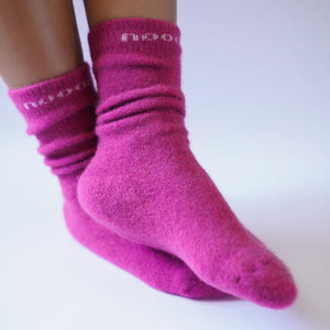 merino wool possum socks pink new zealand