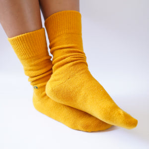 yellow merino wool possum socks new zealand