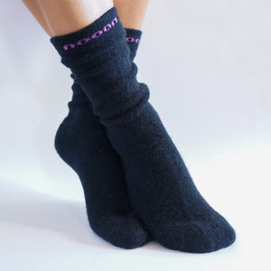 black merino wool possum socks new zealand