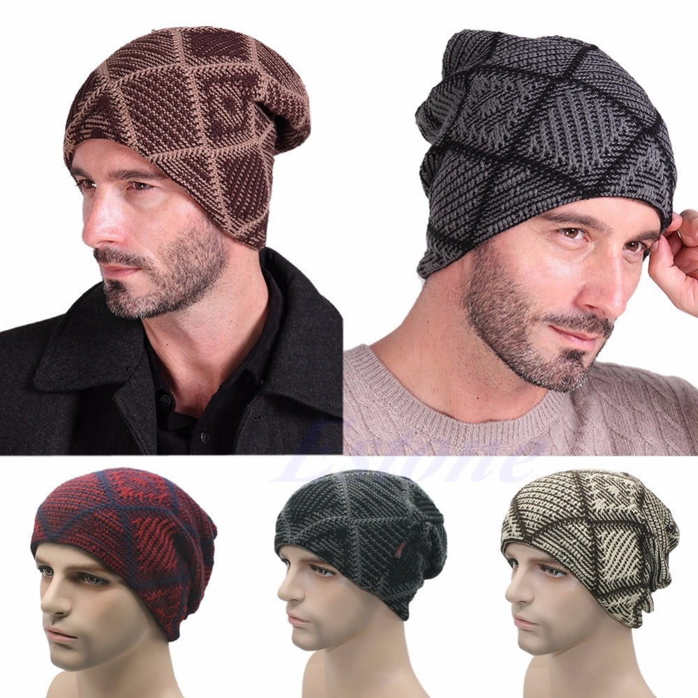 64e16832521 New Mens Ladies Knitted Woolly Winter Oversized Slouch Beanie Cap skat