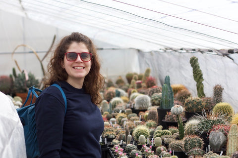 Rosanna in cactus heaven
